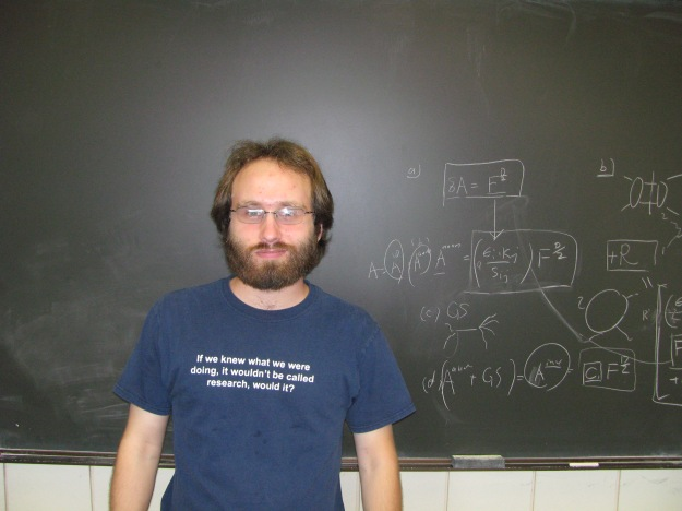 No, the blackboard behind me isn't my talk.