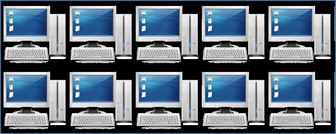 The power of ten computers!